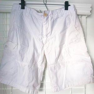 Ralph Lauren White Cargo Shorts